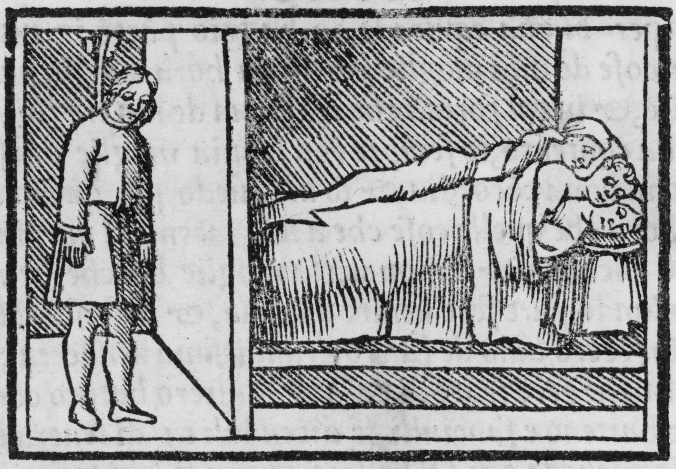 183-108q, sig. N4v (hanging man and three people in bed)